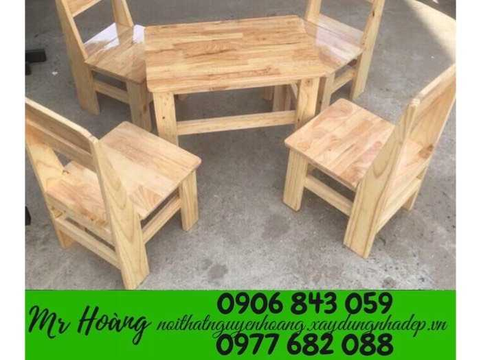 Bộ bàn ghế gỗ caosu giá rẻ1