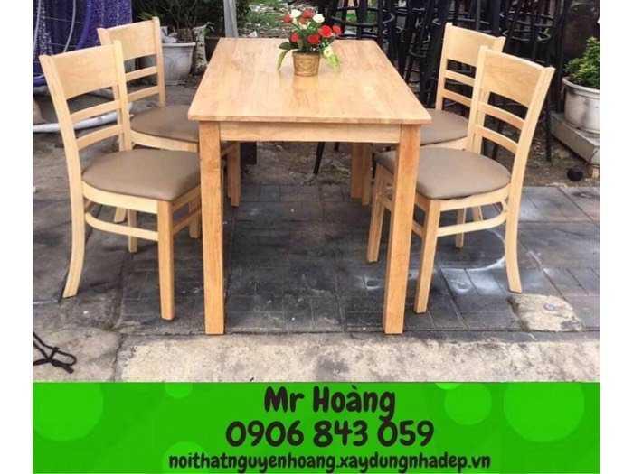 Bộ bàn ghế gỗ nệm giá rẽ - Nội thất Nguyễn hoàng1