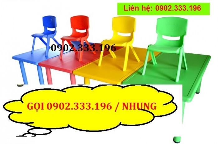 Bàn ghế mầm non, bàn ghế mầm non rẻ, ghế nhựa mầm non2