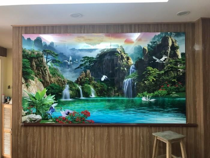 Tranh sơn thủy trang trí phòng khách kích thước 1200x24000