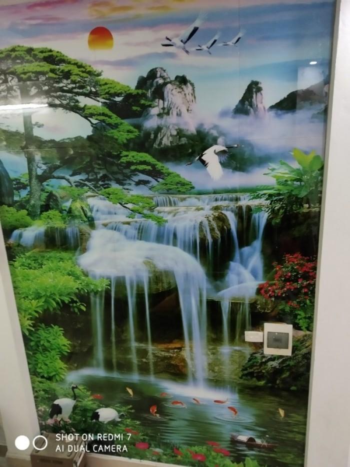 Tranh kính 3d trang trí phòng khách công trình tại Thạch Thất Hà Nội14