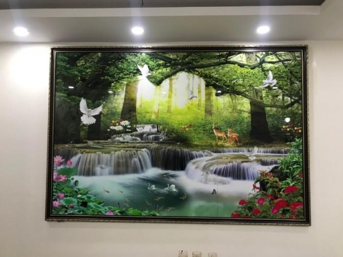 Bộ sản phẩm trang gạch men trang trí phòng khách công trình tại Mỹ Đình15