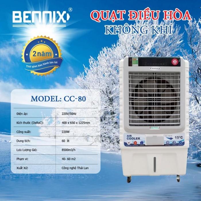 Quạt điều hòa làm mát không khí Bennix CC80 R nhập khẩu Thái Lan0