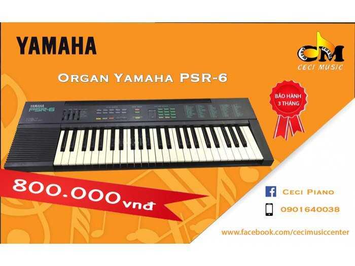 Organ Yamaha PSR6 likenew0
