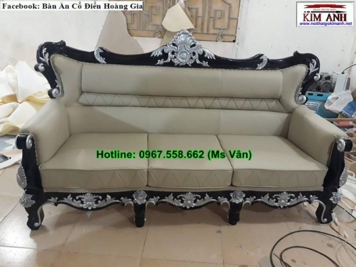 ghế sofa dài phong cách cổ điển