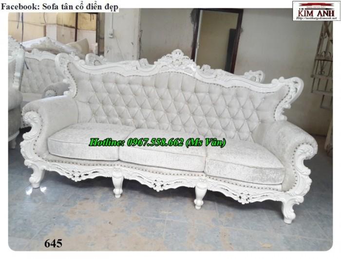 sofa cổ điển màu trắng q2 q7