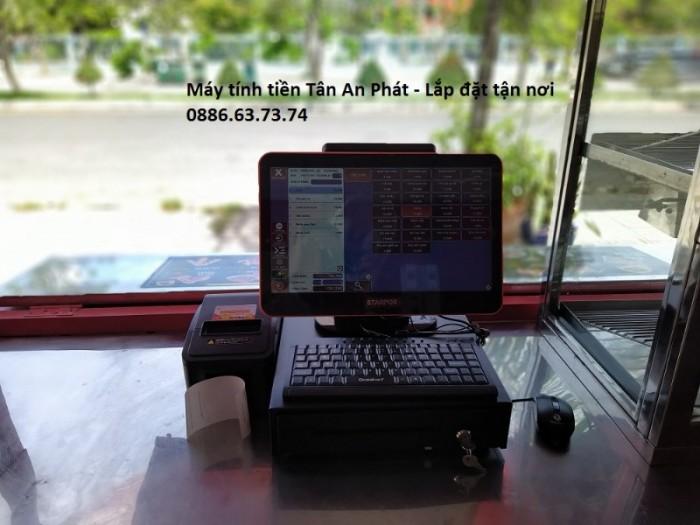 Lắp đặt máy tính tiền cho quán gà rán – quán ăn vặt Vĩnh Long0