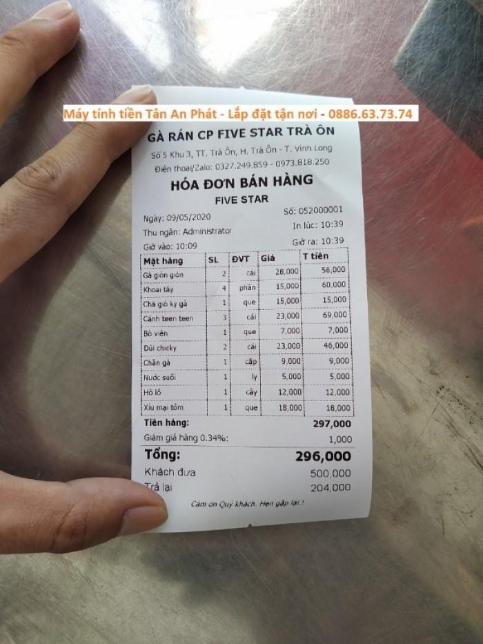 Lắp đặt máy tính tiền cho quán gà rán – quán ăn vặt Vĩnh Long3