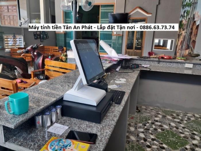 Lắp đặt máy tính tiền cho quán cà phê Bình Định2