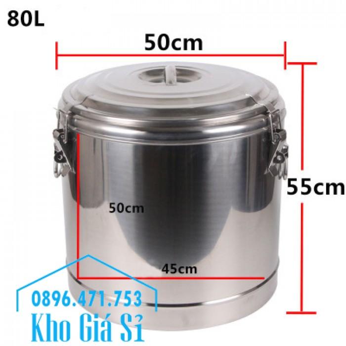 Thùng inox cách nhiệt 10 lít, 20 lít, 30 lít, 40 lít, 50 lít, 60 lít, 100 lít10