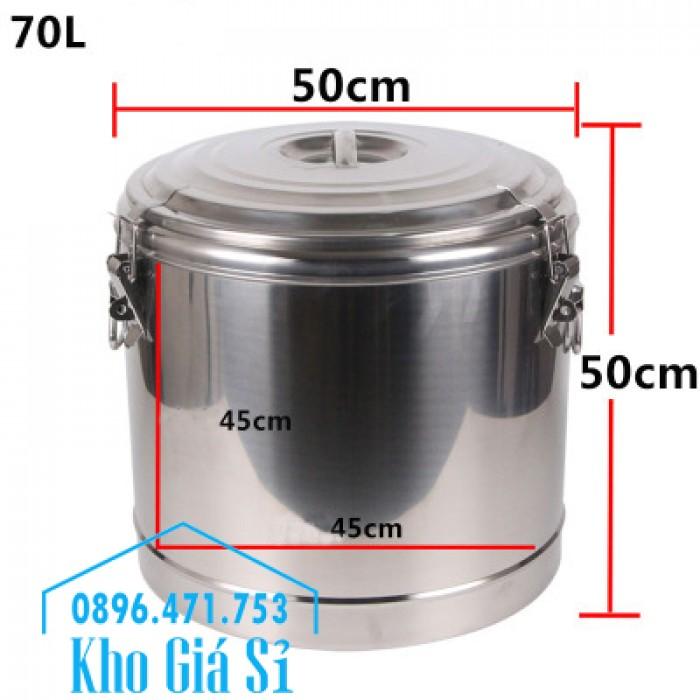 Thùng inox cách nhiệt 10 lít, 20 lít, 30 lít, 40 lít, 50 lít, 60 lít, 100 lít16