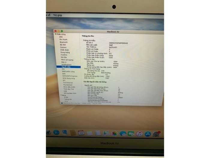 Macbook Air 13 2016 i5 1.6ghz 8g 256gb đẹp 98% nguyên zin3