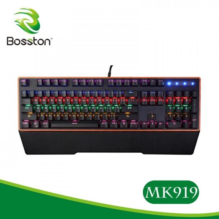 Bàn phím cơBosstonMK919Led Rainbow Blue Switch chính hãng1