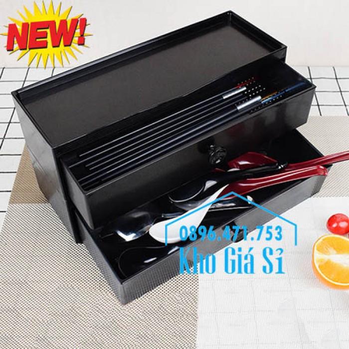 HCM - Bán hộp đũa Nhật Bản - Hộp đựng đũa kiểu Nhật Bản có ngăn kéo12