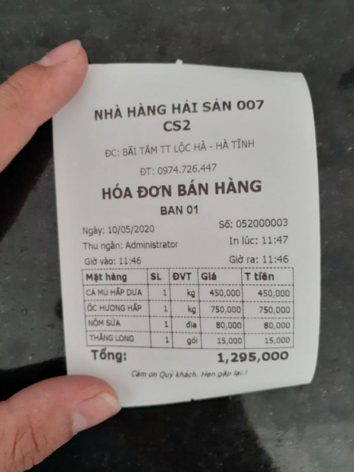 Bộ Máy Tính Tiền Cảm Ứng Cho Nhà Hàng Tại Thạch Hà - Hà Tĩnh2