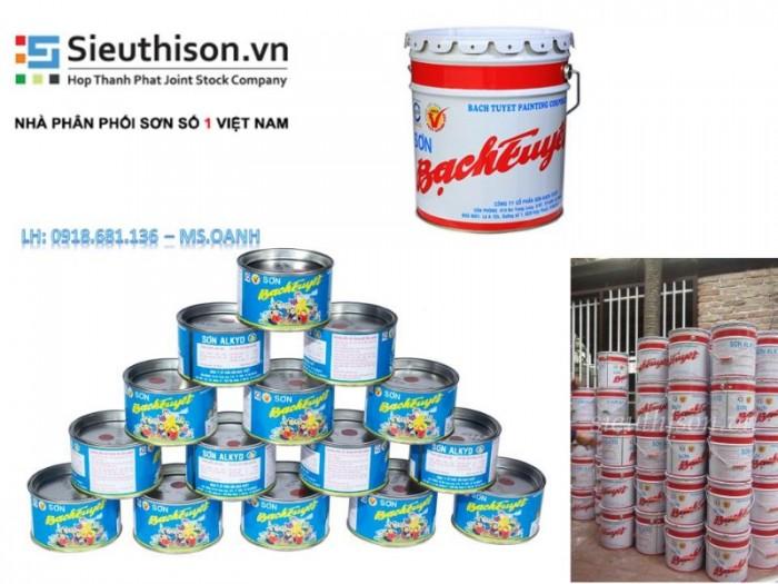 Cửa hàng bán sơn dầu Bạch Tuyết giá rẻ nhất quận Tân Bình0