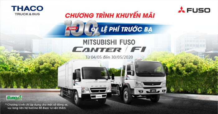 Khuyến Mãi 100% lệ phí trước bạ xe tải Mitsubishi Fuso trong tháng 58