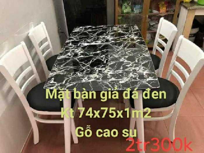 Bộ bàn ăn gỗ mặt đá