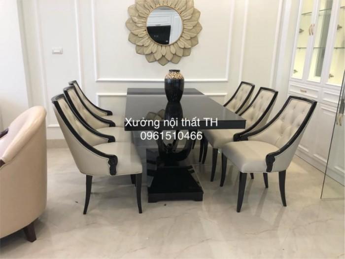 Bộ bàn ghế ăn CG tân cổ điển sang trọng0