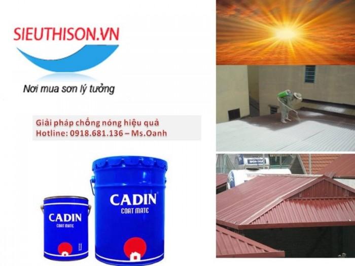 Đại lý bán sơn cách nhiệt CADIN cho tường màu trắng lon 3,8 lít giá rẻ0