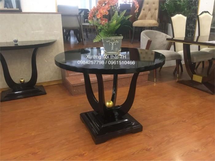 Bộ bàn ăn tròn CG điểm nhấn thu hút cho phòng bếp ấm cúng2