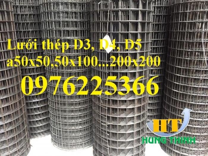 Lưới thép hàn mạ kẽm D3 a50x50, D4 a50x50, D2,5 a50x50, D2 a50x502