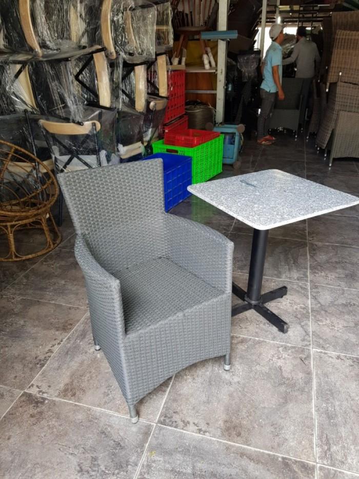 Bàn ghế cafe ngoài trời giá rẻ ghế diana khung nhôm0