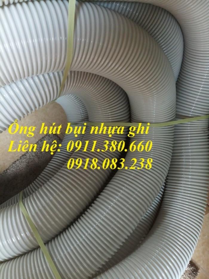 Ống hút bụi gân nhựa, màu ghi D25,...D100, D125, D150,....2