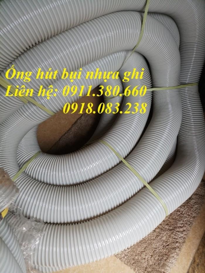 Ống hút bụi gân nhựa, màu ghi D25,...D100, D125, D150,....1