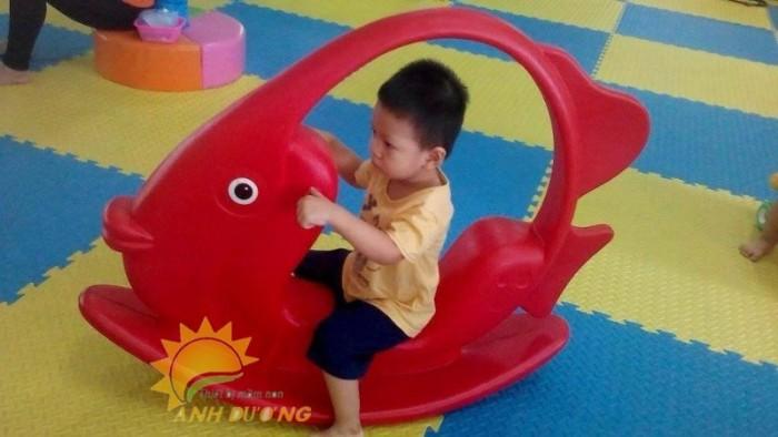 Đồ chơi bập bênh hình con thú đáng yêu cho trẻ em mầm non6