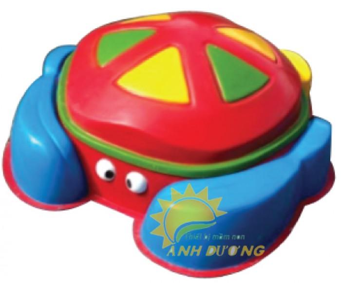 Đồ chơi bồn nghịch cát - nước hình con thú đáng yêu cho bé mầm non1
