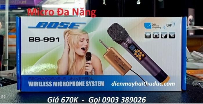 Micro Không Dây Bose BS-991 Tần số UHF bắt sóng xa đến hàng 50m, khả năng xử lý ở mức độ cực cao. 1