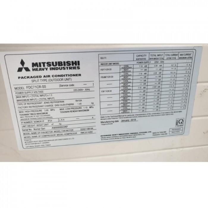 Máy lạnh âm trần Mitsubishi Heavy FDT71CR-S5 3HP0