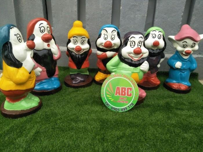 tượng nàng bạch tuyết và bảy chú lùn đồ chơi dành cho các khu vui chơi tại gialai