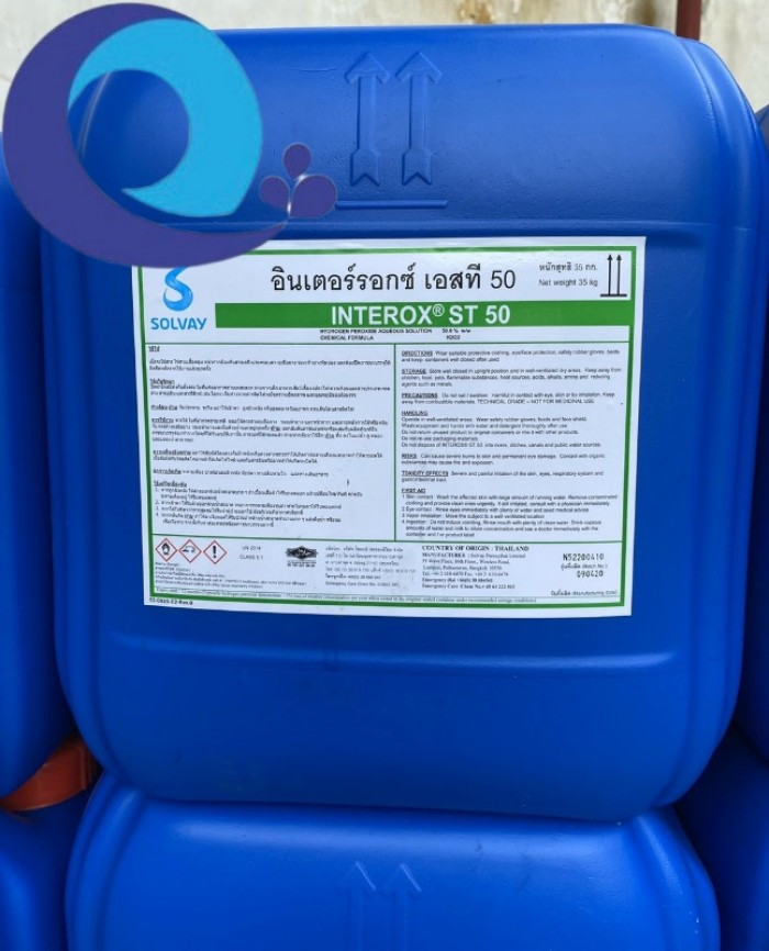 Nơi bán Oxi già H2O2 (Thái Lan-50%-35kg)0