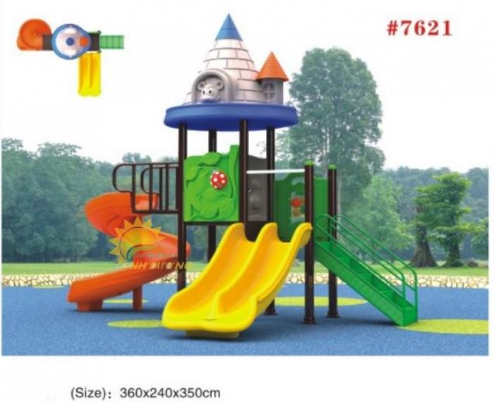 Các bộ liên hoàn cầu trượt ngoài trời cho trường mầm non, sân chơi, công viên