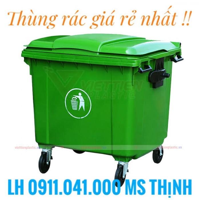 Xe thu gom rác thải 660lit giá rẻ1