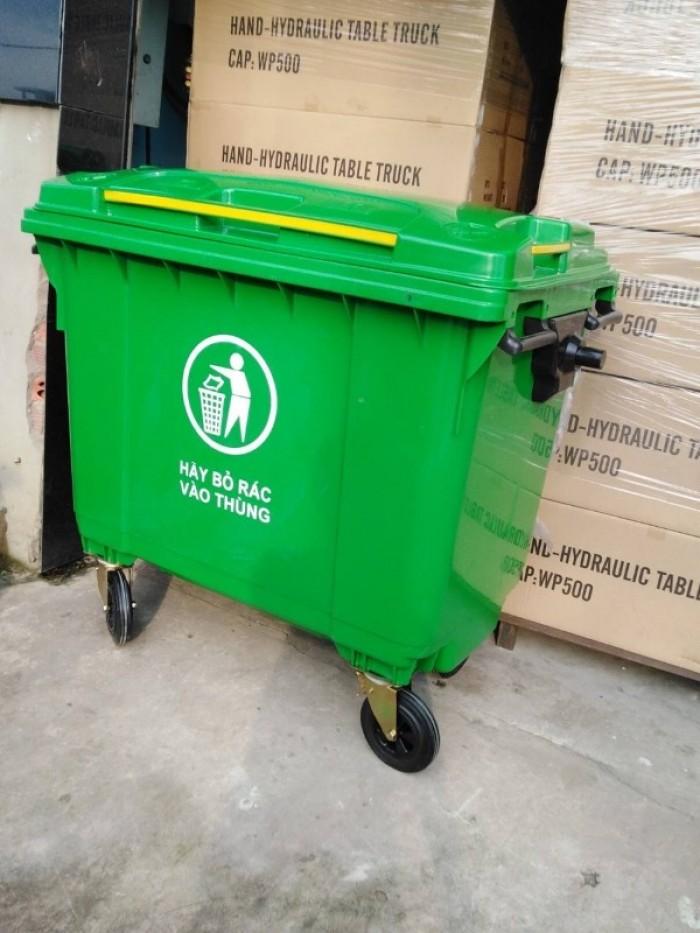 Xe thu gom rác thải 660lit giá rẻ2