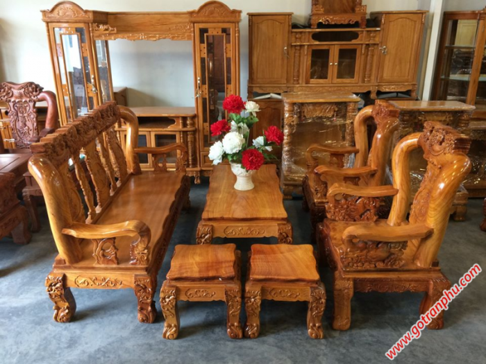Salon gỗ tay 12 gỗ gõ đỏ Việt Nam0
