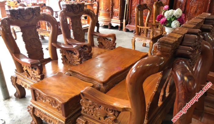 Salon gỗ tay 12 gỗ gõ đỏ Việt Nam1