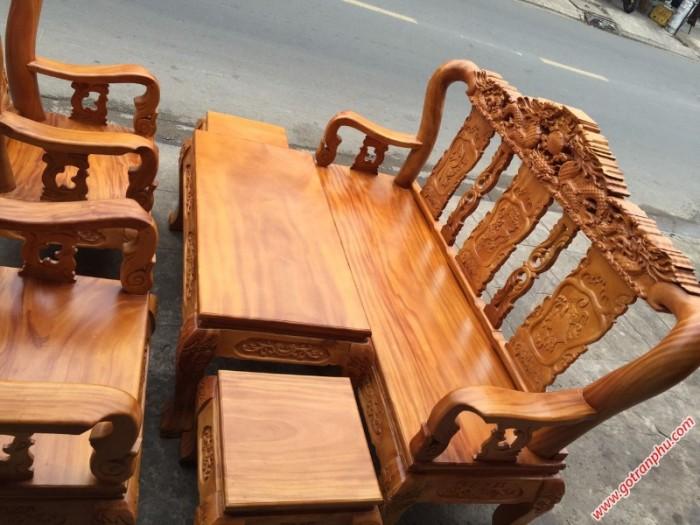 Bộ bàn ghế gỗ tay 10 gỗ gõ đỏ chạm rồng 6 món1