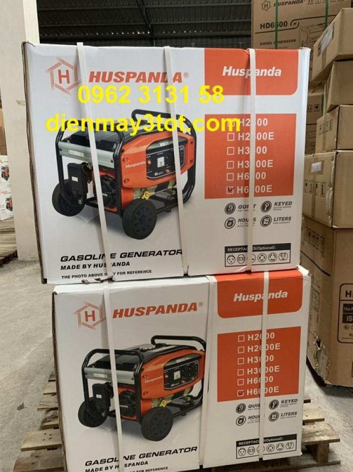 Máy phát điện chạy xăng 5kw Huspanda HD66002
