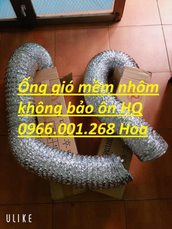 Giá ống gió mềm nhôm Hàn Quốc phi 75,phi 100,phi 125,phi 150,phi 200,phi 250,2