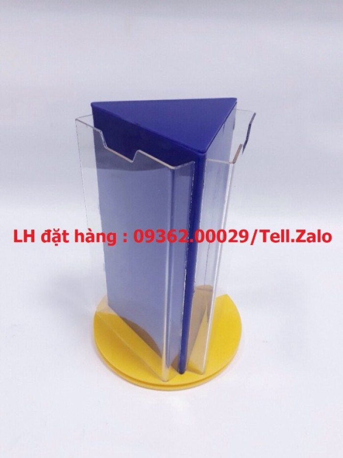 Gia công mẫu kệ xoay 3 mặt, kệ xoay mica ngũ giác giá rẻ tại Hà Nội10