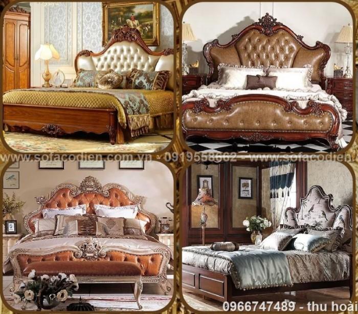 Nội thất cổ điển giá rẻ TPHCM, giường ngủ tân cổ điển Bình Dương, Cần Thơ26