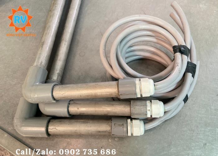 Điện trở đun nước kèm hoá chất  L phi 25-900-200-380V-3KW0
