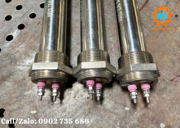 Điện trở đun nước,đun dầu 1 đầu M45, phi 38*430PB/220v-2KW0