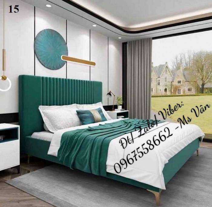 mẫu giường ngủ bọc nệm đẹp q21
