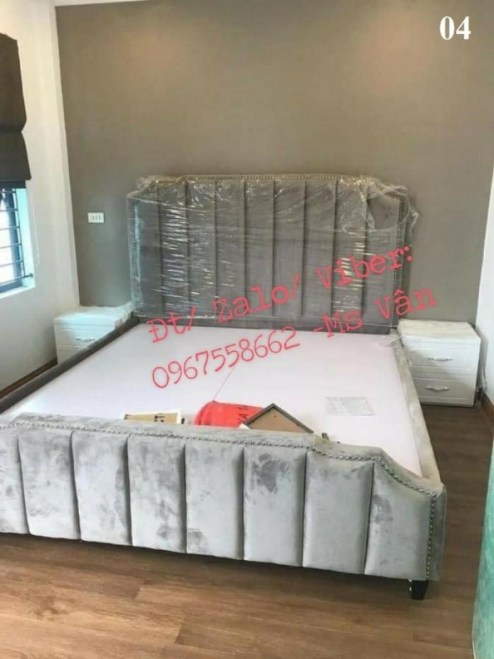 kiểu giường bọc nệm sang chảnh Bình Dương Đồng Nai 6