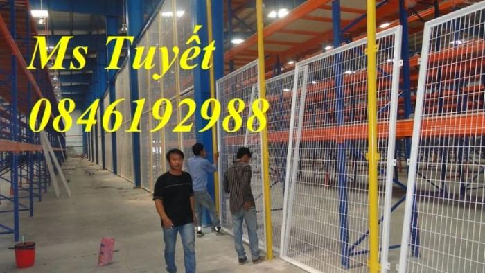 Hàng rào lưới thép mạ kẽm, lưới thép điện phân, sản xuất và lắp đặt4